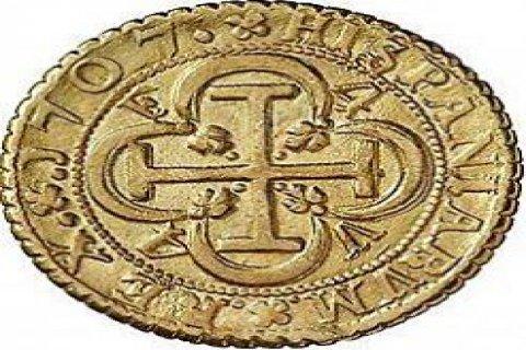 UNE PIECE 4 ESCUDOS PHILIPPE V 1707   OR F