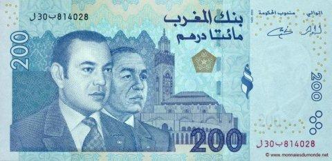 billet 200 dhs marocain a acheter