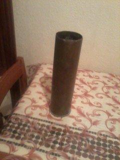 طلقة مدفعية قديمة