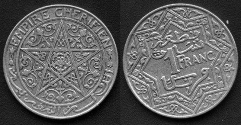1 franc magheribi