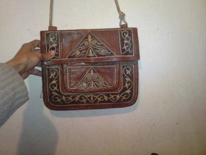 شكارة مغربية قديمة ديال الجلد
