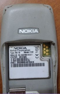 Nokia 1100, RH 18, MADE IN GERMANY