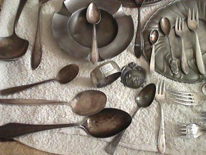 مجموعة من الفضة القديمة