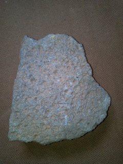 حجر رحى أسود يزن 4كيلو عثرث عليه في الماكن الذي كان يسكن البرتغا