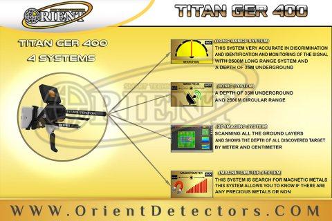 تيتان جير 400 جهاز كشف الذهب والمعادن ب 4 أنظمة بحث