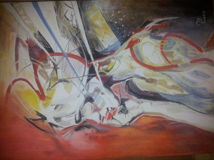 لوحة فنية زيتية