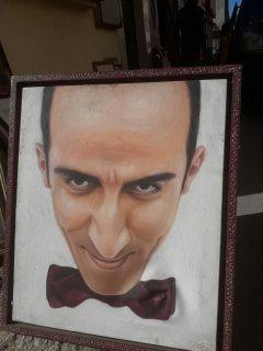 للبيع50 لوحة مرسومة لفنانة وممثلين ومغنين وجوه مغاربة مخضرمين معروفين
