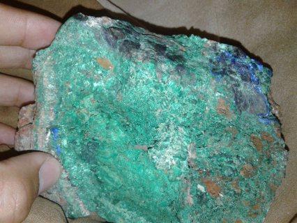 calcite ,Azurite , malachite