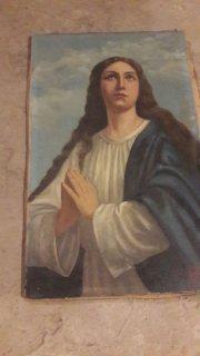 لوحة رسم للمريم العذراء اكتر من 400 سنة من الأقدمية