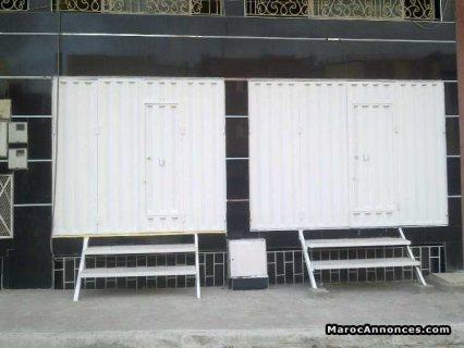 للكراء محلات تجارية.مع سرداب للمخزون بسلا الجديدة الرباط المغرب