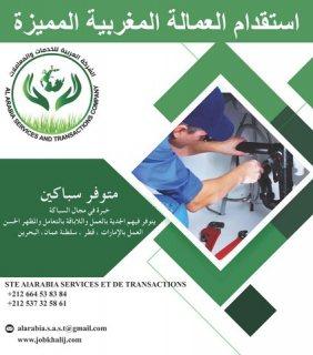 متوفر لدينا من المغرب سباكين صحية دوي خبرة وكفاءة