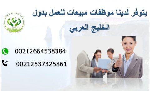 يوجد مندوبات مبيعات من الجنسية المغربية جاهزات للعمل بدول الخليج
