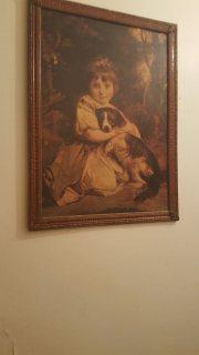 طبعة للوحة miss jane bowles 1775 عمرها اكثر من 120 سنة