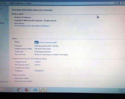 HP compaq processeur AMD sempron مشكل ضعف البطارية فقط