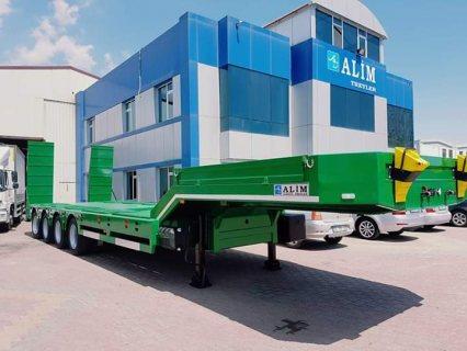 نصف المقطورة عربة مقطورة مسطحة منخفضة، 4 axle low bed semi-trailer EXTENDA
