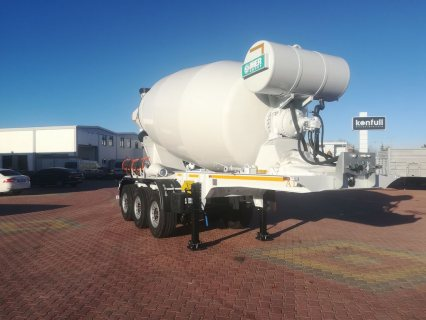 خلاطة الخرسانة، mixer semi trailer concrete mixer semi-trailer