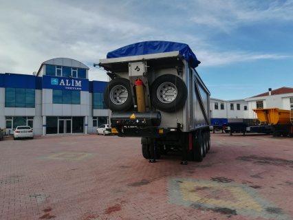 العربات نصف المقطورة شاحنة قلابة، Heavy Duty Rock Type Tipper Trailer