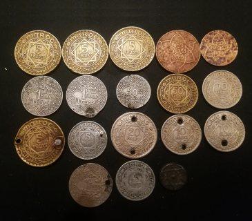 عملات مغربية نادرة (  18 قطعة)