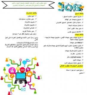 عاجل مطلوب لقسم المبيعات والتسويق لفروعها بمصر والسعودية