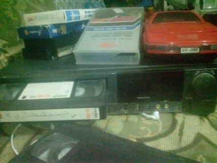 جهاز فيديو VHS +تورن كسيت + 55 شريط فيديو