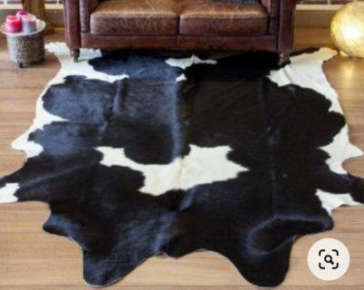 بيع سجاد جلد البقر أشكال وأنواع