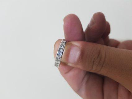 خاتم  ذهب أبيض وألماس