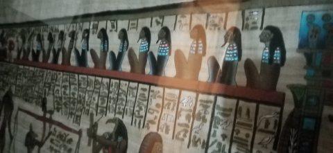 لوحة فنية فرعونية قديمة لها دلالات ومعاني