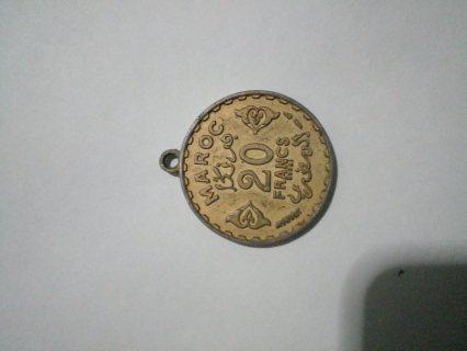 قلادة عملاة 20 فرانك مغربي قديمة عام 1371 ESSAI