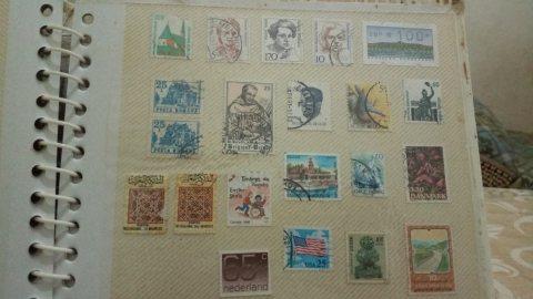 طوابع بريدية  مغربية  واجنبية