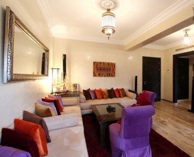 شقة وسط مراكش للايجار جليز مراكش على 60 متر
