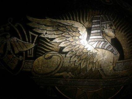 ماكنة خياطة  سنجر سيمانكو  رمز الاسد الفرعوني قديمة  الطويلة تحف