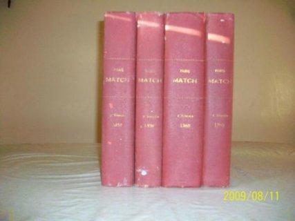 مجموعة من أربع مجلدات لمجلة paris match   تعود لسنوات الخمسينيات