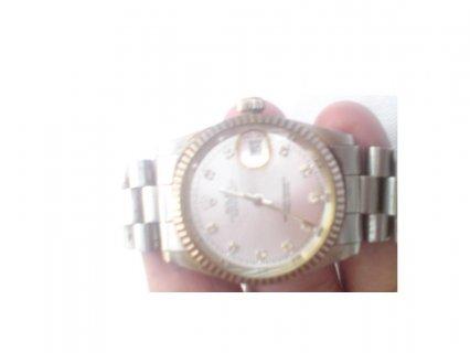 ساعة رولكس اصلية ارقامها من الالماس