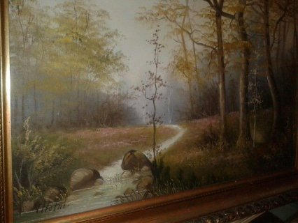 لوحاتزيتية قديمة في غاية الروعة اصلية وغير مقلدة