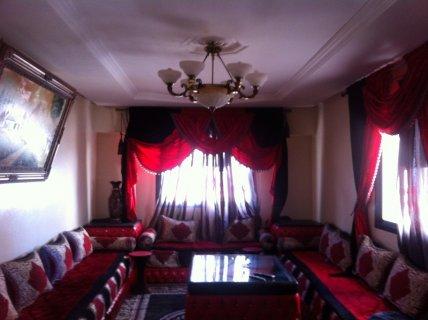 شقة غرفتين مفروشة للايجار طنجة على البحر فى عمارة بانوراما
